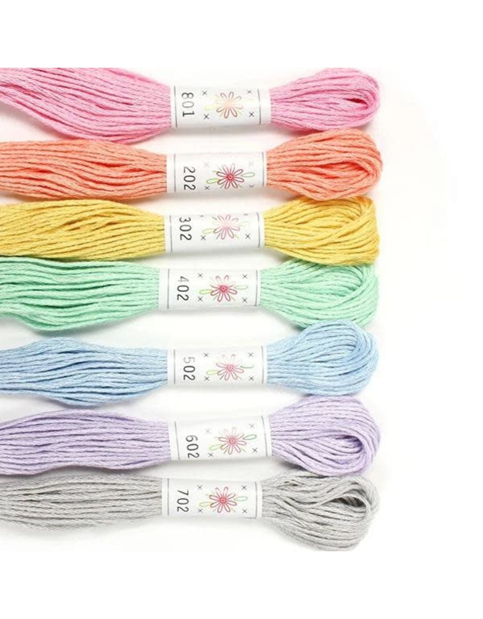 Sublime Stitching Embroidery Floss Set, Frosting Palette - Seven 8.75 yard skeins