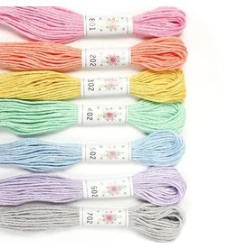 Sublime Stitching Embroidery Floss Set, Frosting Palette - Seven 8.75 yard skeins, from Sublime Stitching