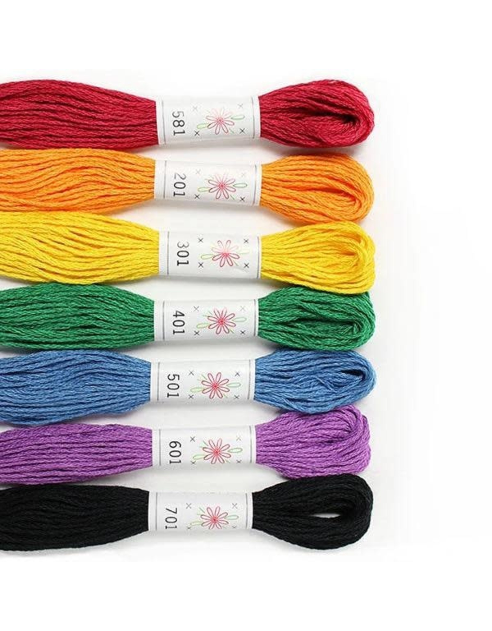 Sublime Stitching Embroidery Floss Set, Rainbow Palette - Seven 8.75 yard skeins, from Sublime Stitching