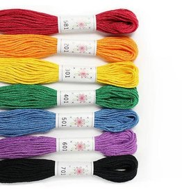 Sublime Stitching Embroidery Floss Set, Rainbow Palette - Seven 8.75 yard skeins