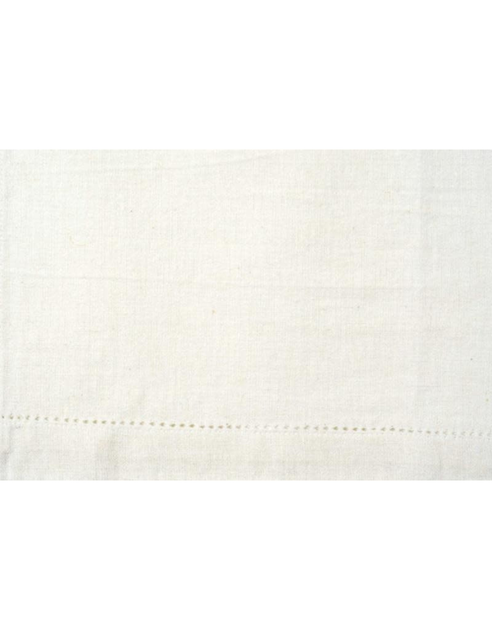 Moda Home Tea or Kitchen Towel, White, Decorative Hem, Perfect for Embroidery