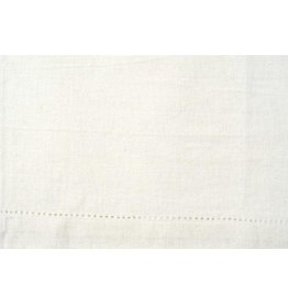 Moda Home ON ORDER-Tea or Kitchen Towel, White, Decorative Hem, Perfect for Embroidery
