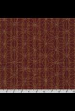 Sevenberry Nara Homespun, Sashiko Stars in Red, Fabric Half-Yards SB-88500D2-3