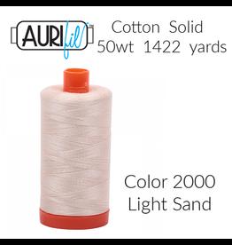 Aurifil Aurifil Thread, 50wt, 100% Cotton Mako, Large Spool 1422 yds. Color 2000: Light Sand