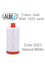 PD Aurifil Thread, 50wt, 100% Cotton Mako, Large Spool 1422 yds. Color 2021: Natural White