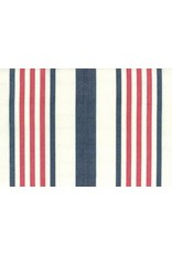 """Moda Woven Toweling, 16"""", Picnic Point Tea in White with Red and Blue Stripes  992 238, Sold by the Yard"""