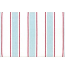 """Moda Woven Toweling, 18"""", Rock Pool Toweling in Seaglass with Red Stripes  992 250, Sold by the Yard"""