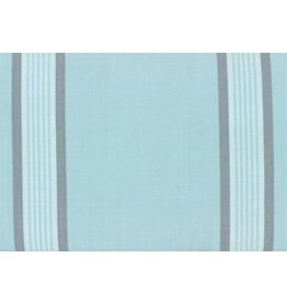 """Moda Woven Toweling, 18"""", Rock Pool Toweling in Seaglass with Grey Stripes  992 254, Sold by the Yard"""