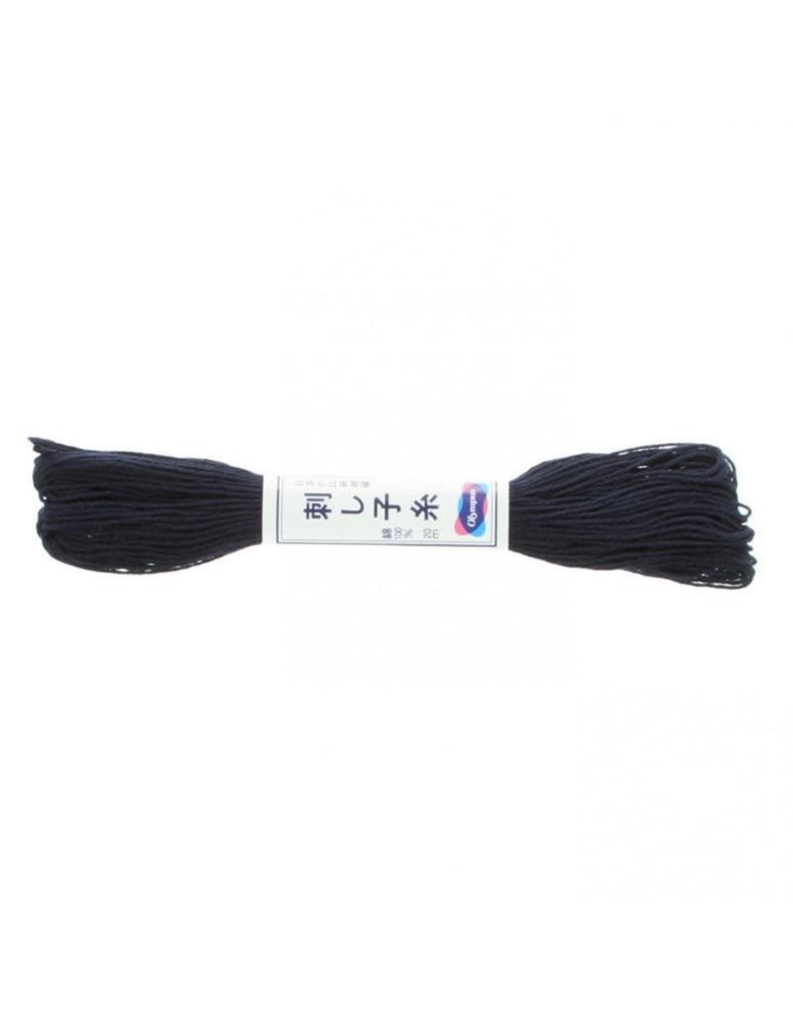 Olympus Sashiko Thread, Navy, 22 yd. skein, 100% Cotton