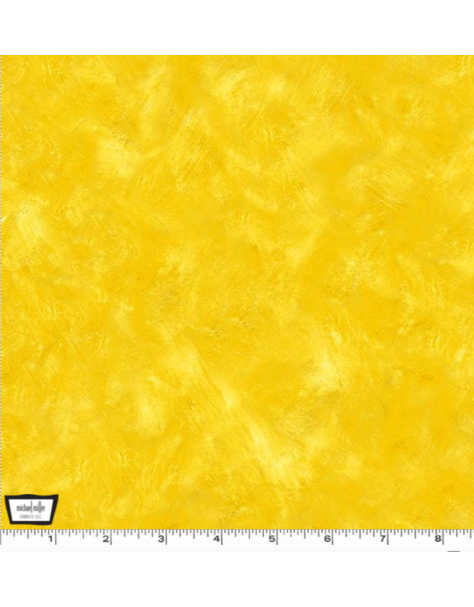 Michael Miller Eat, Sleep, Garden, Hand Sprayed in Yellow, Fabric Half-Yards CX9062