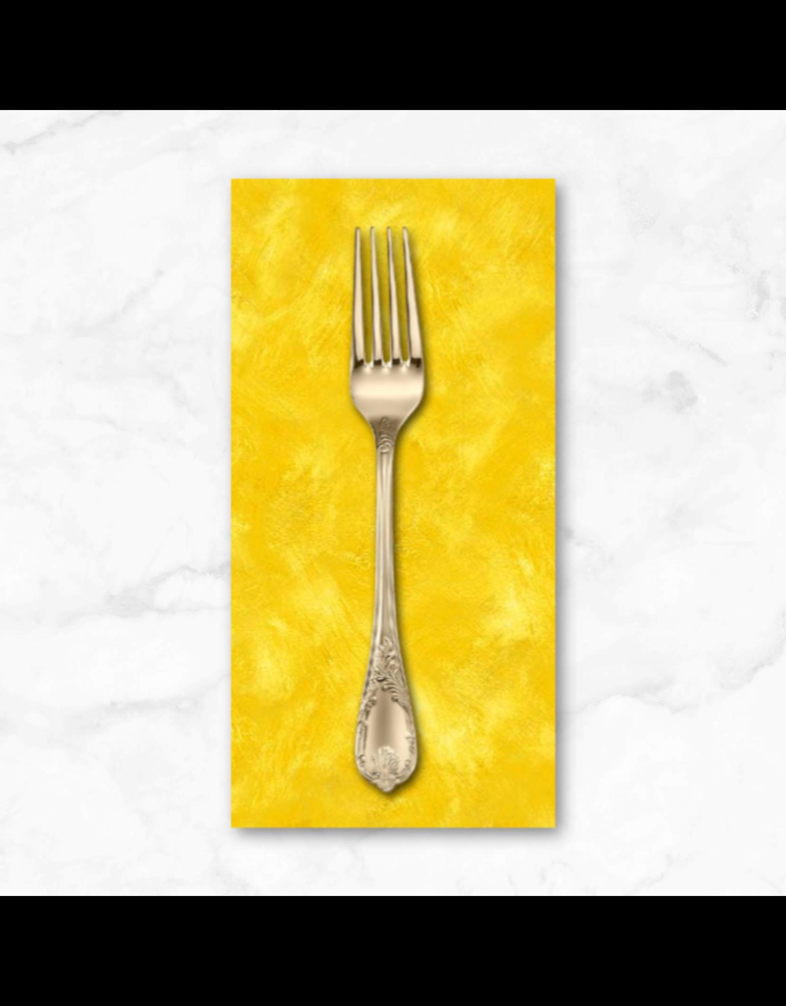PD's Michael Miller Collection Eat, Sleep, Garden, Hand Sprayed in Yellow, Dinner Napkin
