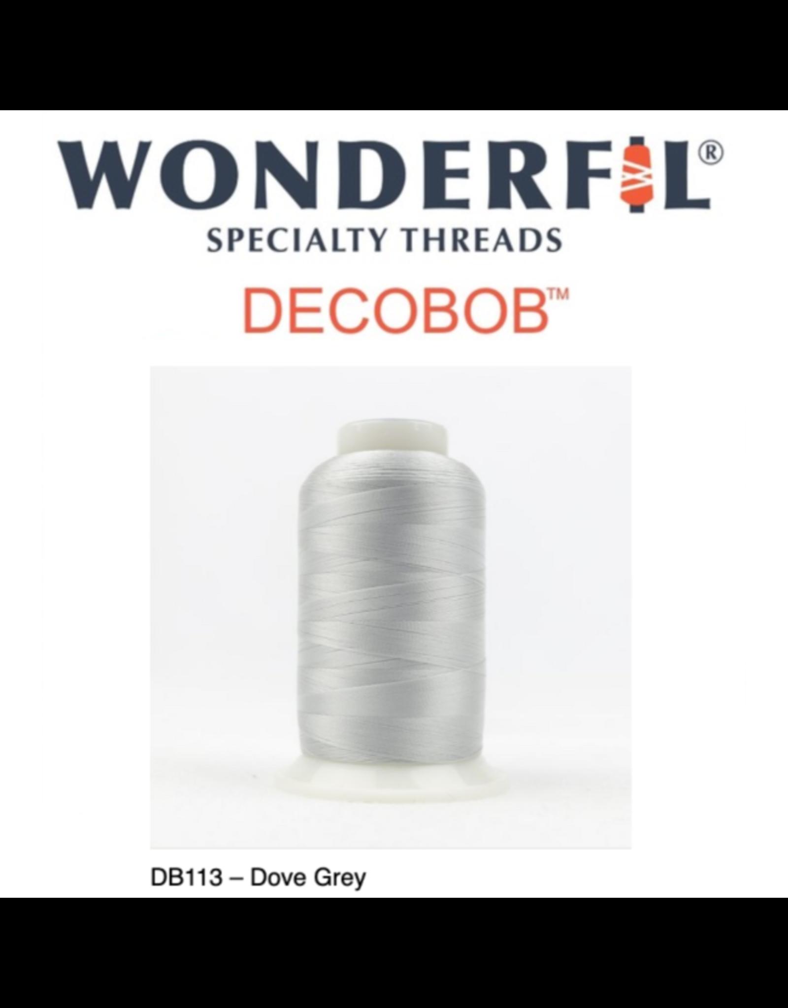 WonderFil Wonderfil DecoBob Thread, 80wt poly, 2000m DB113-Grey