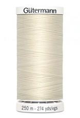 Gutermann Gutermann Thread, 250M-022 Cream, Sew-All Polyester All Purpose Thread, 250m/273yds