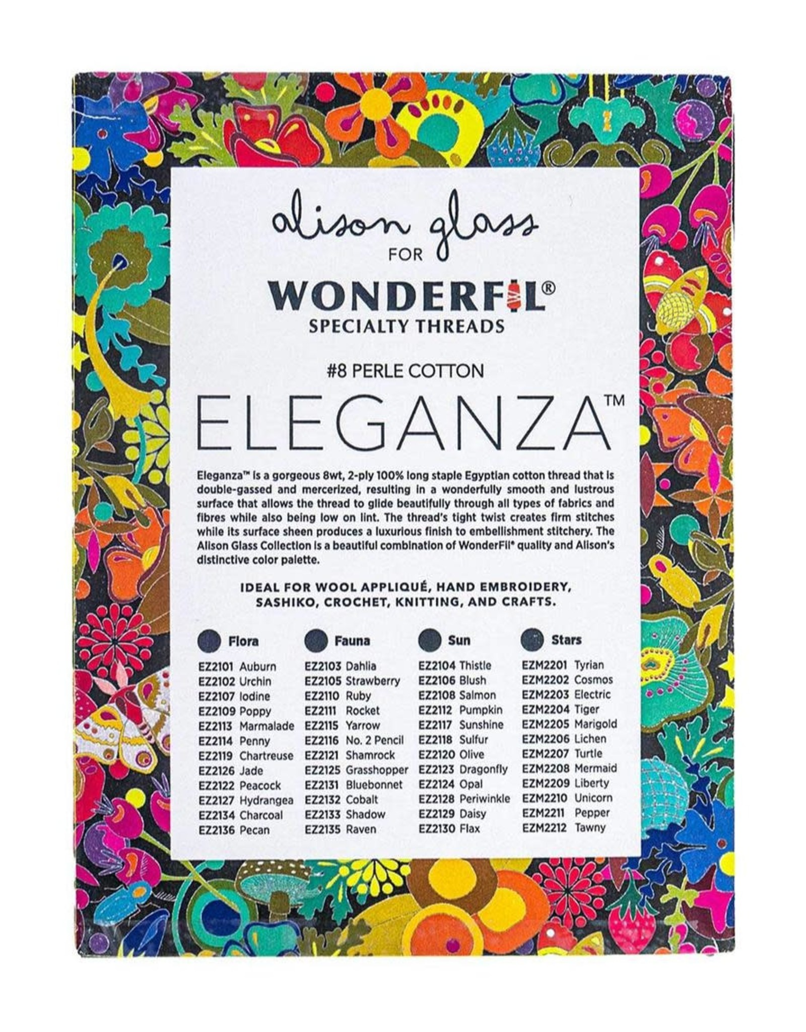 Alison Glass Alison Glass Eleganza Palette #2, Fauna, Perle (Pearl) Cotton, Set of 12 Size 8 from WonderFil