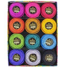 Alison Glass Eleganza Palette #2, Fauna, Perle (Pearl) Cotton, Set of 12 Size 8 from WonderFil