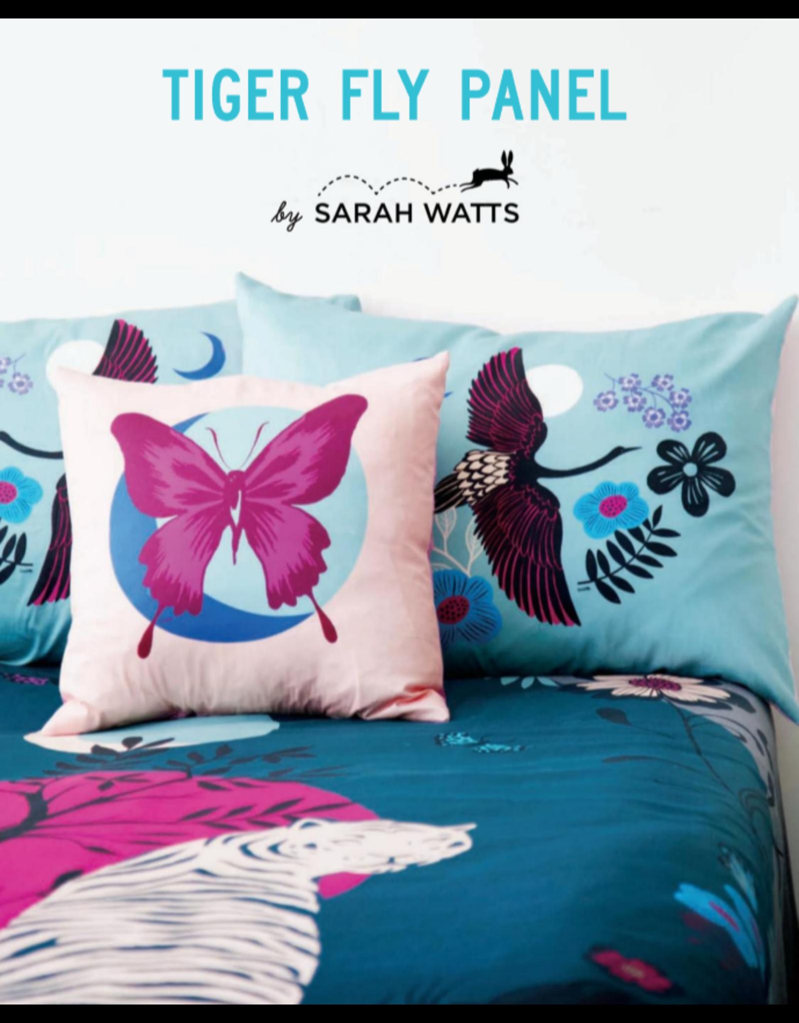 Sarah Watts ON SALE-Ruby Star Society, Tiger Fly Large Fabric Panel, Digitally Printed