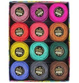 Alison Glass Eleganza Palette #1, Flora, Perle (Pearl) Cotton, Set of 12 Size 8 from WonderFil