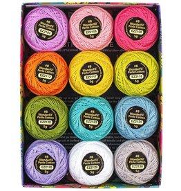 Alison Glass Eleganza Palette #3, Sun, Perle (Pearl) Cotton, Set of 12 Size 8 from WonderFil
