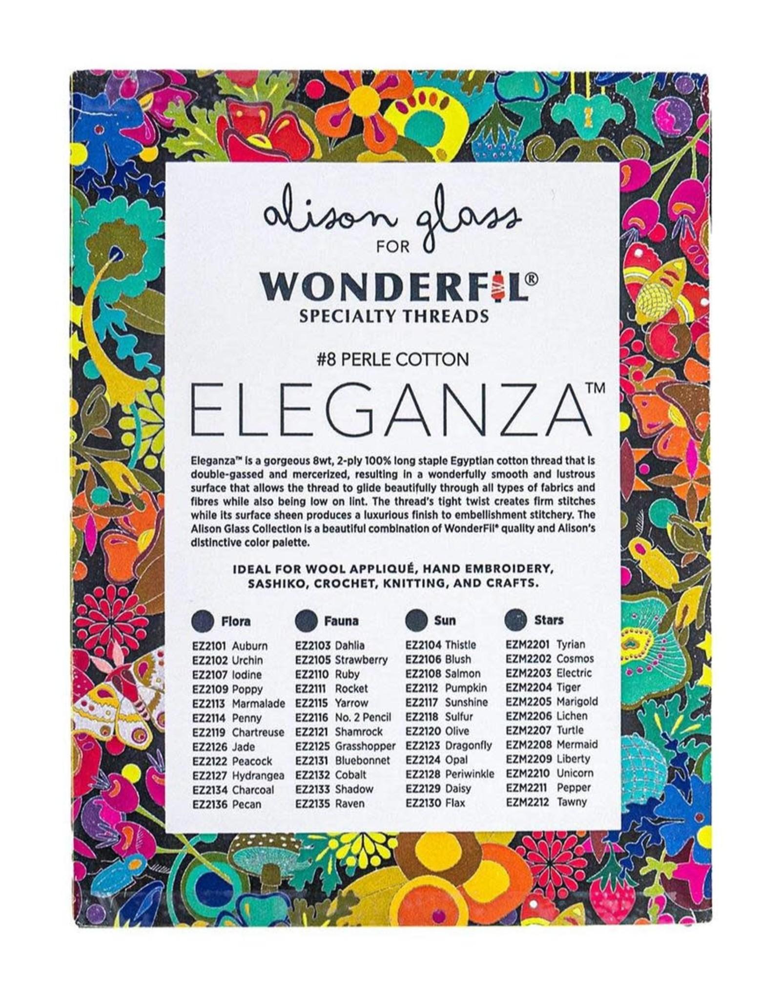Alison Glass Eleganza Palette #4, Stars, Perle (Pearl) Cotton, Set of 12 Size 8 from WonderFil