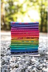 Alison Glass Stitched Handcrafted, Cross Stitch in Hydrangea, Fabric Half-Yards AB-9039-B1