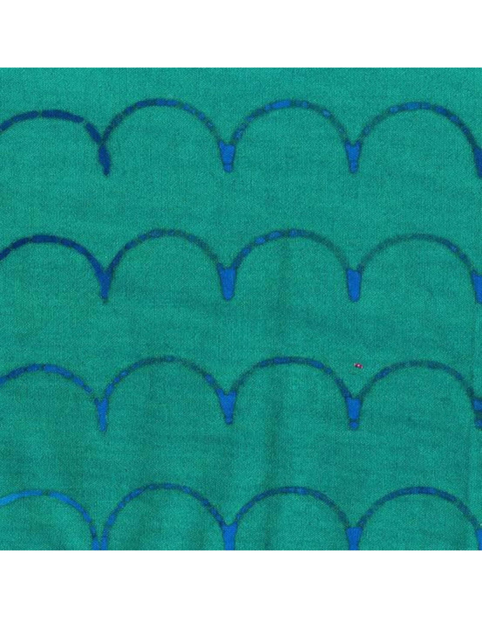 Alison Glass Stitched Handcrafted, Scallop in Denim, Fabric Half-Yards AB-9042-B1