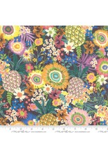 Moda Rayon, Kiamesha Pachanga in Charcoal, Fabric Half-Yards 11850 15R