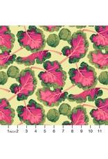 Martha Negley Veggies, Kale in Bright, Fabric Half-Yards  PWMN007