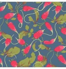 Martha Negley Veggies, Radishes in Dark, Fabric Half-Yards  PWMN004