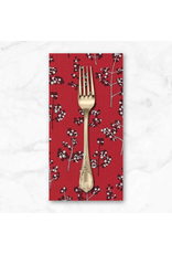 Christmas Collection Winter Shimmer 2, Holly Berry in Crimson, Dinner Napkin