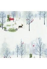 Jennifer Sampou Winter Shimmer 2, Scenic in Opal Fabric Half-Yards AJSP-19941-89