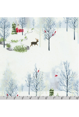 Christmas Collection Winter Shimmer 2, Scenic in Opal, Dinner Napkin