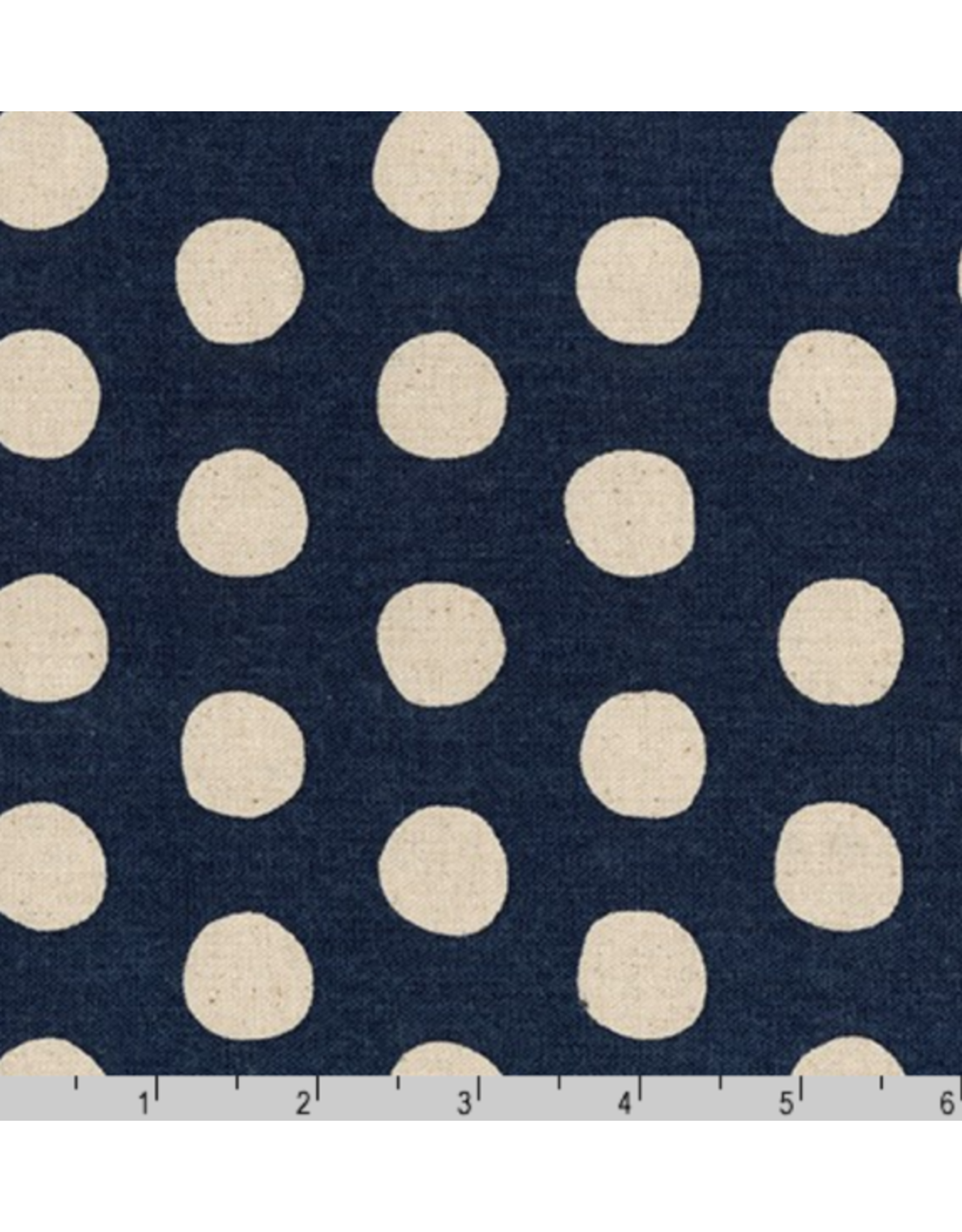 Sevenberry Canvas, Sevenberry Natural Dots in Midnight Navy, Fabric Half-Yards SB-88187D1-12