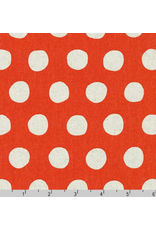 Sevenberry Canvas, Sevenberry Natural Dots in Orange, Fabric Half-Yards SB-88187D1-9