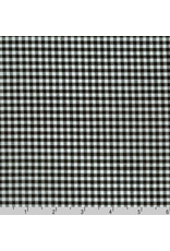 "Robert Kaufman Carolina Gingham, 1/8"" in Black, Lightweight Yarn Dyed Woven, Fabric Half-Yards P-5689-11"