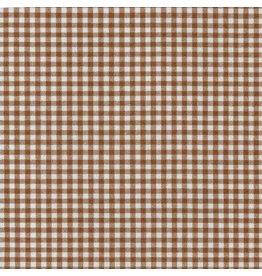 "Robert Kaufman Carolina Gingham, 1/8"" in Chocolate, Lightweight Yarn Dyed Woven, Fabric Half-Yards P-5689-167"