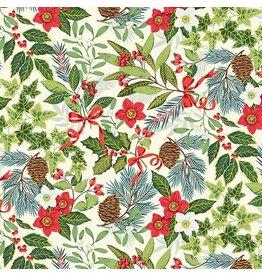 Andover Fabrics Yuletide, Foliage in Cream, Fabric Half-Yards TP-2242-Q
