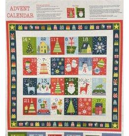 "Andover Fabrics Joy Advent Calendar Panel, 24"" x 42""  TP-2226-1"