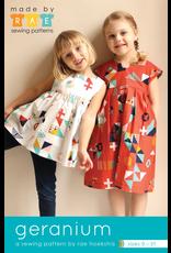 Made By Rae Little Girl's Geranium Dress Pattern