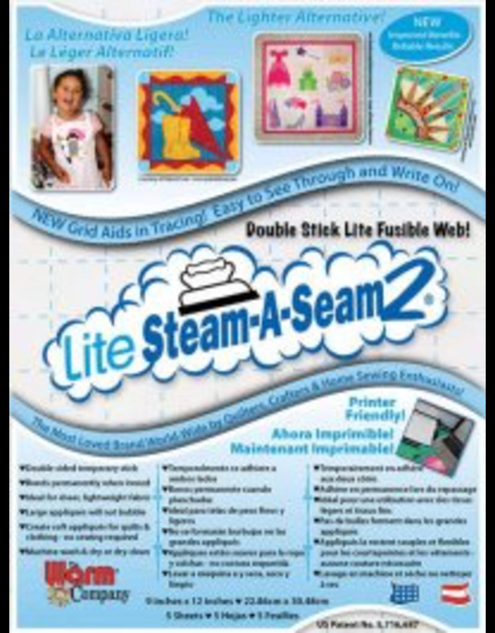 "PD Lite Steam-A-Seam 2: Pack of 5: 9""x12"" sheets"