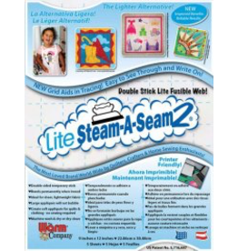 "PD Lite Steam-A-Seam 2: Pack of 5: 9""x12"" sheets"