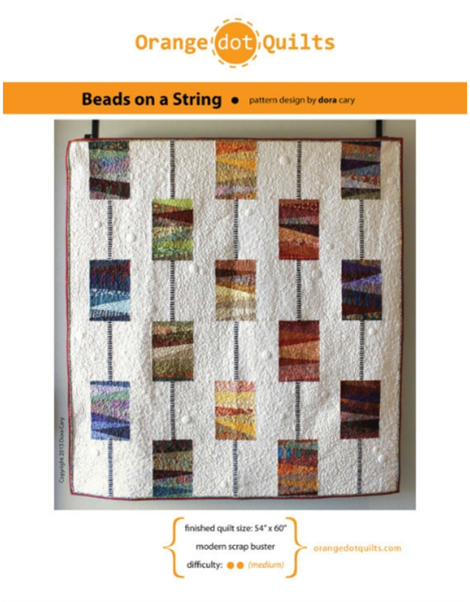 Orange Dot Quilts Beads on a String Quilt Pattern