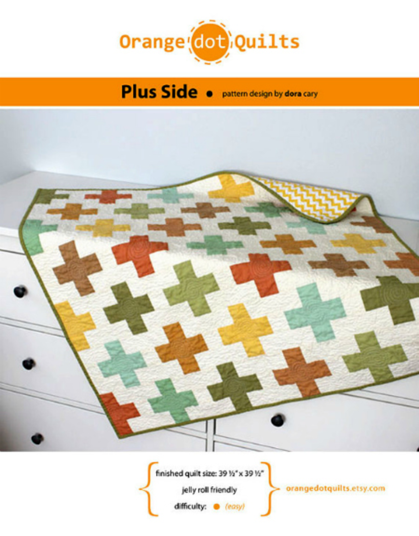 Orange Dot Quilts On the Plus Side Quilt Pattern