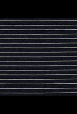 Robert Kaufman ON SALE-Indigo Medium Weight Knit, Wide Stripes in Indigo, Fabric FULL-Yards