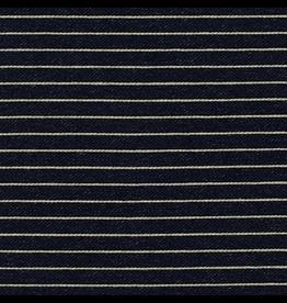 Robert Kaufman ON SALE-Indigo Medium Weight Knit, Wide Stripes in Indigo, Fabric Half-Yards