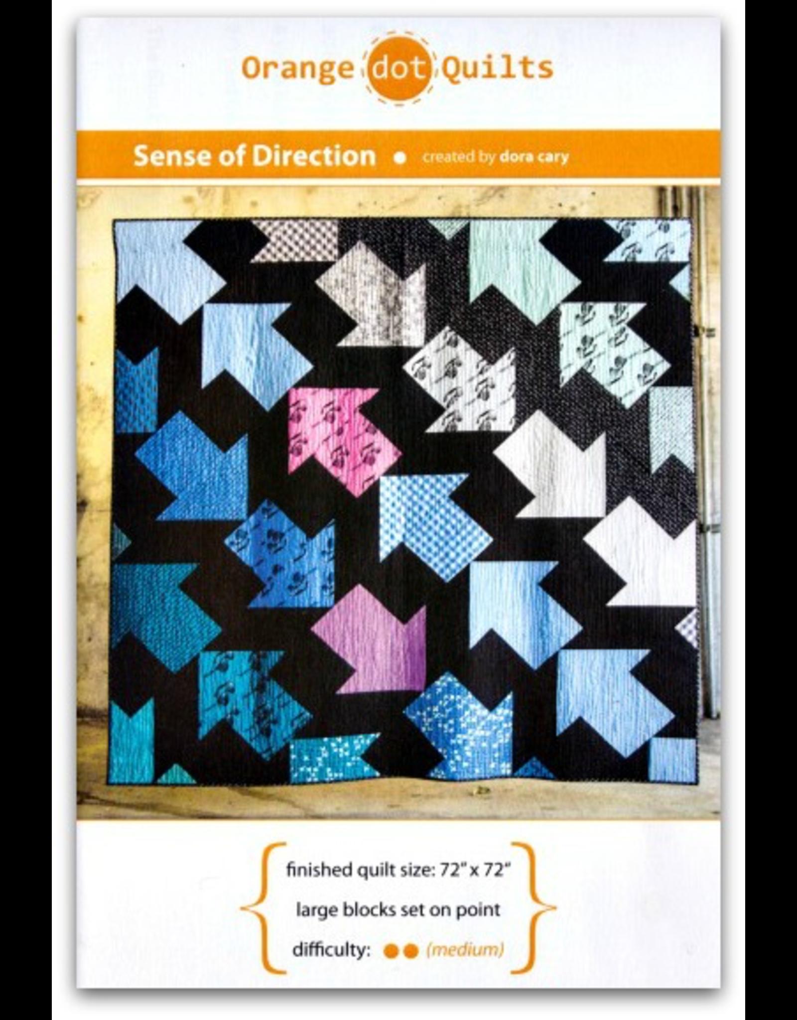 Orange Dot Quilts Sense of Direction Quilt Pattern