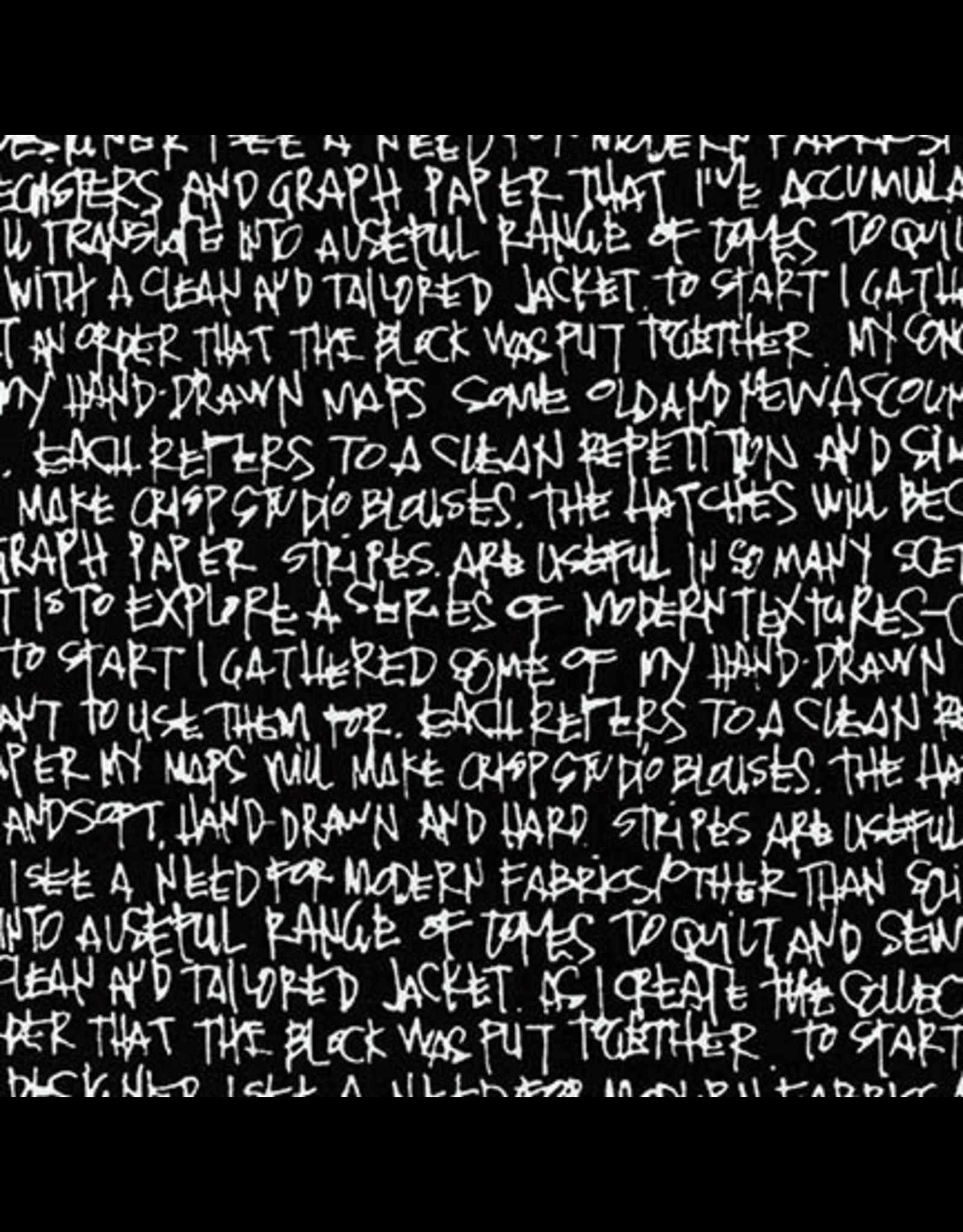 Carolyn Friedlander Architextures Wideback, Scribble Notes in Black, Fabric Half-Yards AFRX-18144-2