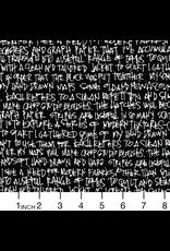 Robert Kaufman Architextures Wideback, Scribble Notes in Black, Fabric Half-Yards AFRX-18144-2