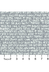 PD's Carolyn Friedlander Collection Architextures, Scribble Notes in Pewter, Dinner Napkin