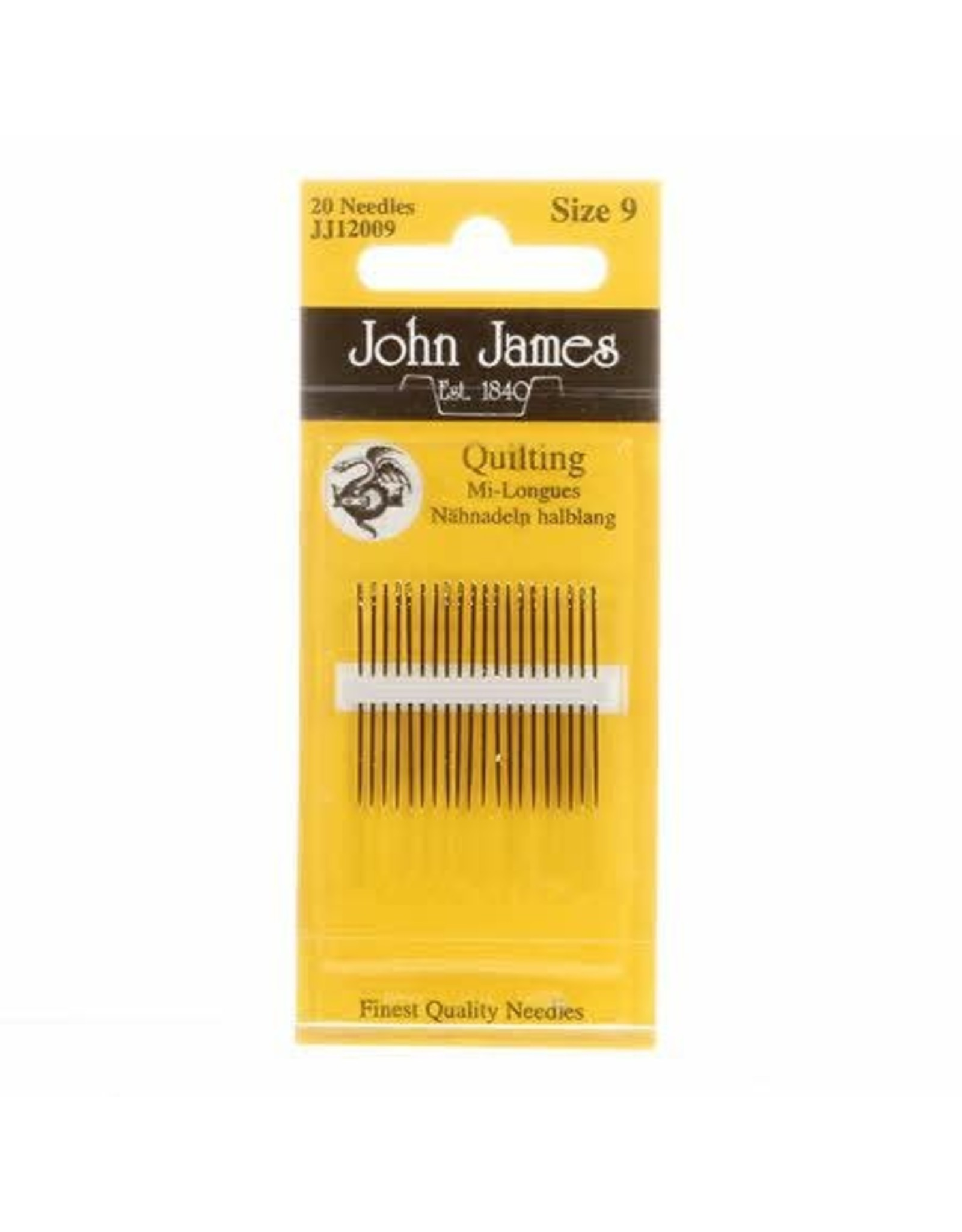 PD Quilting Needles size 9, 20ct., John James
