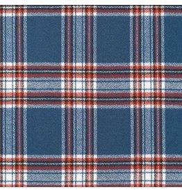Robert Kaufman Yarn Dyed Cotton Flannel, Mammoth Flannel in Americana, Fabric Half-Yards SRKF-16420-202